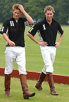 TETBURY, UK: Prince Charles, Prince William and Prince Harry take part in a charity polo match at Beaufort Polo Club on the 21st June 2003.<br /> PHOTOGRAPH BY JAMES WHATLING