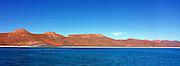 View of Bahia San Gabriel, Isla Espiritu Santo, Sea of Cortez, Mexico