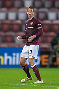 Connor Shaughnessy (#3) of Heart of Midlothian during the 4th round of the William Hill Scottish Cup match between Heart of Midlothian and Livingston at Tynecastle Stadium, Edinburgh, Scotland on 20 January 2019.
