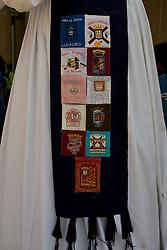 Logrono (Spain) 19/09/2007 - 51° Fiesta de la Vendimia Riojana 2007. Pasacalles de la comparsa de Gigantes y Cabezudos y la Escuela de Dulzaina. Penas of Logrono. Destino Casco Antiguo.