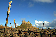Images of Lindesfarne Island, off the coast of Northumberland.