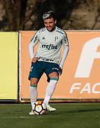 30.04.2018 - SÃO PAULO, SP -  O jogador Victor Luis  durante o treino do Palmeiras no CT da Barra Funda na zona oeste de São Paulo na tarde desta segunda-feira 30 ( Foto: MARCELO D.SANTS / FRAMEPHOTO )