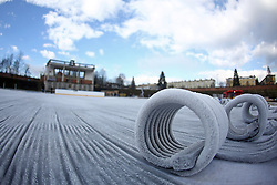 Preparing stadium Bezigrad for Winter Classic of HDD Olimpija Ice Fest 2013, on December 28, 2012 in Stadium Bezigrad, Ljubljana, Slovenia. (Photo By Matic Klansek Velej / Sportida.com)