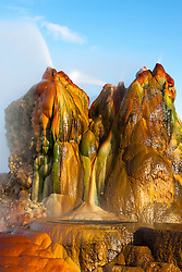 """Fly Geyser 6"" - Photograph of the famous man made Fly Geyser in Nevada."