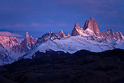 Sunrise at Mt. Fitzroy in the Southern Andes, Patagonia, Argentina, South America