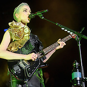 "COLUMBIA, MD - July 17th, 2014 - St. Vincent performs at Merriweather Post Pavilion, opening for Queens of the Stone Age. Her performance included songs such as ""Birth In Reverse"" and ""Surgeon."" (Photo by Kyle Gustafson / For The Washington Post)"