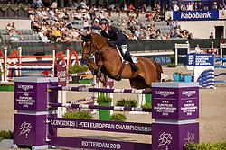Maher Ben, GBR, Explosion W<br /> European Championship Jumping<br /> Rotterdam 2019<br /> © Dirk Caremans<br /> Maher Ben, GBR, Explosion W