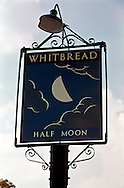 Pub Signs, Half Moon, Hildenborough, Kent, Britain