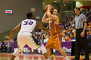 FORT WORTH, TX - JANUARY 19: Javan Felix #3 of the Texas Longhorns brings the ball up court against the TCU Horned Frogs on January 19, 2015 at Wilkerson-Greines AC in Fort Worth, Texas.  (Photo by Cooper Neill/Getty Images) *** Local Caption *** Javan Felix