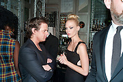 CHRISTOPHER KANE; JANUARY JONES, Donatella Versace celebrates the launch of the CSM 20:20 Fund, at the Connaught Hotel, Mayfair, London, 11th November, 2010. -DO NOT ARCHIVE-© Copyright Photograph by Dafydd Jones. 248 Clapham Rd. London SW9 0PZ. Tel 0207 820 0771. www.dafjones.com.