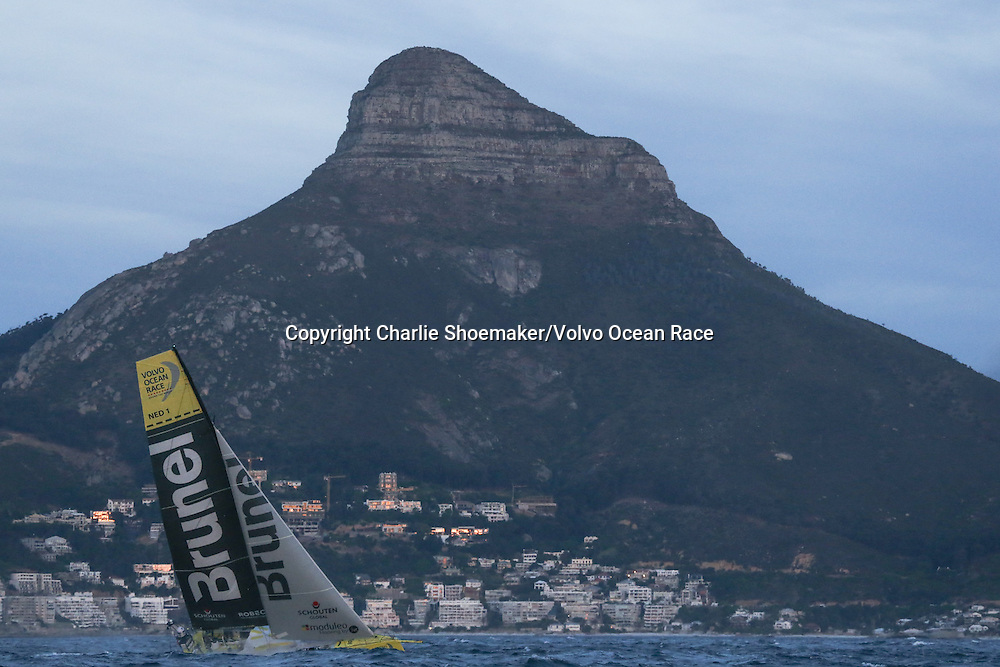 November 19, 2014. The Start of Leg 2 from Cape Town to Abu Dhabi; Team Brunel