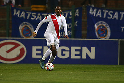 Thokozane Sekotlong of Free State Stars during the 2016 Premier Soccer League match between Supersport United and The Free Stat Stars held at the King Zwelithini Stadium in Durban, South Africa on the 24th September 2016<br /> <br /> Photo by:   Steve Haag / Real Time Images