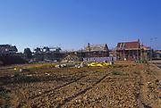 A084ND Construction site of new housing development Rendlesham Suffolk England