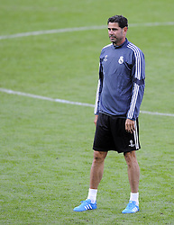 Real Madrid Assistant Coach, Fernando Hierro - Photo mandatory by-line: Joe Meredith/JMP - Mobile: 07966 386802 11/08/2014 - SPORT - FOOTBALL - Cardiff - Cardiff City Stadium - Real Madrid v Sevilla - UEFA Super Cup - Press Conference and Open Training session
