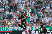 STOCKHOLM, SWEDEN - MAY 16: Soren Rieks of Malmo FF and Bjorn Paulsen of Hammarby during the Allsvenskan match between Hammarby IF and Malmo FF at Tele2 Arena on May 16, 2018 in Stockholm, Sweden. Photo by Nils Petter Nilsson/Ombrello ***BETALBILD***
