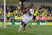 Fulham defender Ryan Sessegnon (3) sees a shot saved by Burton Albion goalkeeper Stephen Bywater (1) during the EFL Sky Bet Championship match between Burton Albion and Fulham at the Pirelli Stadium, Burton upon Trent, England on 16 September 2017. Photo by Richard Holmes.