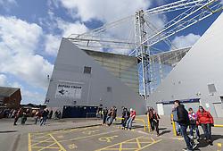 Away fans start to gather outside Deepdale Stadium - Photo mandatory by-line: Dougie Allward/JMP - Mobile: 07966 386802 - 11/04/2015 - SPORT - Football - Preston - Deepdale - Preston North End v Bristol City - Sky Bet League One