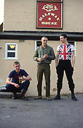 Symond, Shawn and Gavin at The Halfway House pub. High Wycombe, UK. 1980s.