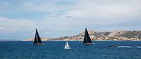 From Left to Right: LYRA and NAHITA during the Rolex Maxi Cup 2017, Costa Smeralda, Porto Cervo Yacht Club Costa Smeralda (YCCS), Sardinia, Italy.