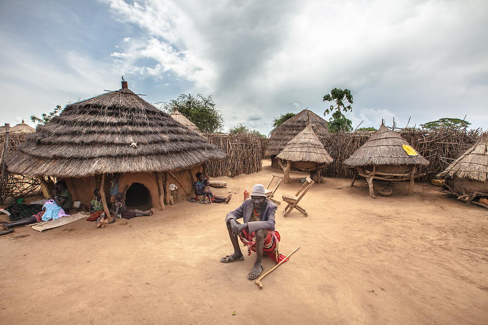 Village in Karamoja subregion, Uganda.
