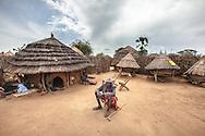 Village in Karamoja subregion, Uganda.