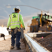 Highway Work and Ag inspections station building along I-15