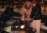 Vicki Dunn of Prospect, Ohio (left) and Aaron Widmar of Kettering during Horse-Drawn Carriage Rides & Star Late Skate night at RiverScape MetroPark in downtown Dayton, Saturday, December 18, 2010.