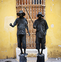 """Two locals perform for tips in the """"Old City"""" in Cartagena, Colombia. (Photo/Scott Dalton)"""