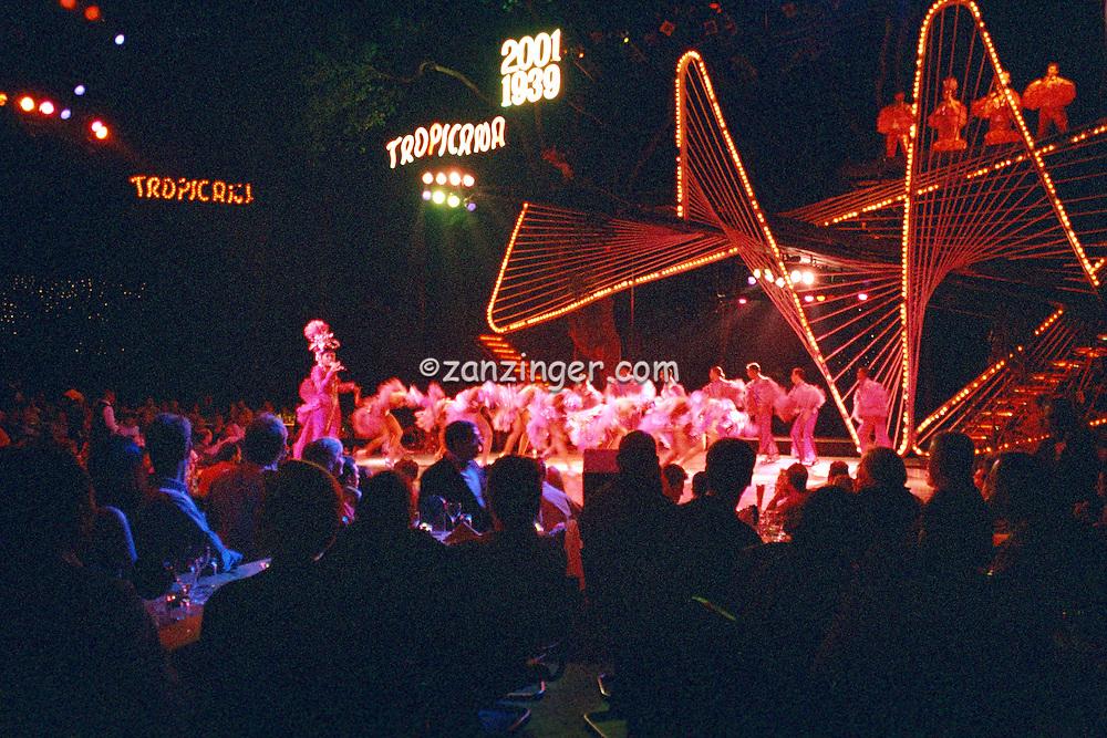 Dancers on Stage, Tropicana  Cabaret Club Havana Cuba, Republic of Cuba,