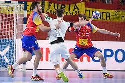 Filip Taleski of Macedonia during handball match between National teams of Macedonia and Spain on Day 4 in Main Round of Men's EHF EURO 2018, on January 21, 2018 in Arena Varazdin, Varazdin, Croatia. Photo by Mario Horvat / Sportida