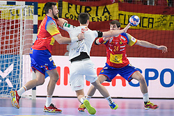 Filip Taleski of Macedonia during handball match between National teams of Macedonia and Spain on Day 4 in Main Round of Men's EHF EURO 2018, on January 21, 2018 in Arena Varazdin, Varazdin, Croatia. Photo by Mario Horvat / Sportida