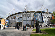 A general view outside Hull City KCOM stadium before the EFL Sky Bet Championship match between Hull City and Bristol City at the KCOM Stadium, Kingston upon Hull, England on 5 May 2019.
