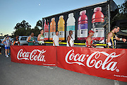 BELLVILLE, SOUTH AFRICA - Wednesday 3 December 2014, Coke branding during the Metropolitan 10km road race outside the Parc Du Cap head office in Bellville.<br /> Photo by IMAGE SA / Roger Sedres