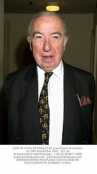LORD ST.JOHN OF FAWSLEY at a luncheon in London on 24th November 2000.OJL 56