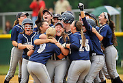 The Middletown South team celebrates after winning the NJSIAA Central Jersey Group III final game against South Plainfield held at Middletown High School South on June 3.