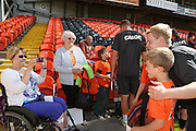A picture with Gary Mackay-Stevens - Dundee United open day at Tannadice<br /> <br />  - Pictures © David Young