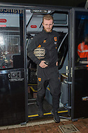 Max Clark of Hull City arrives at Ewood Park, Blackburn ahead of during the FA Cup match between Blackburn Rovers and Hull City<br /> Picture by Matt Wilkinson/Focus Images Ltd 07814 960751<br /> 06/01/2018