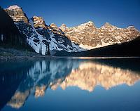 Moraine Lake at Dawn, banff National Park Alberta Canada