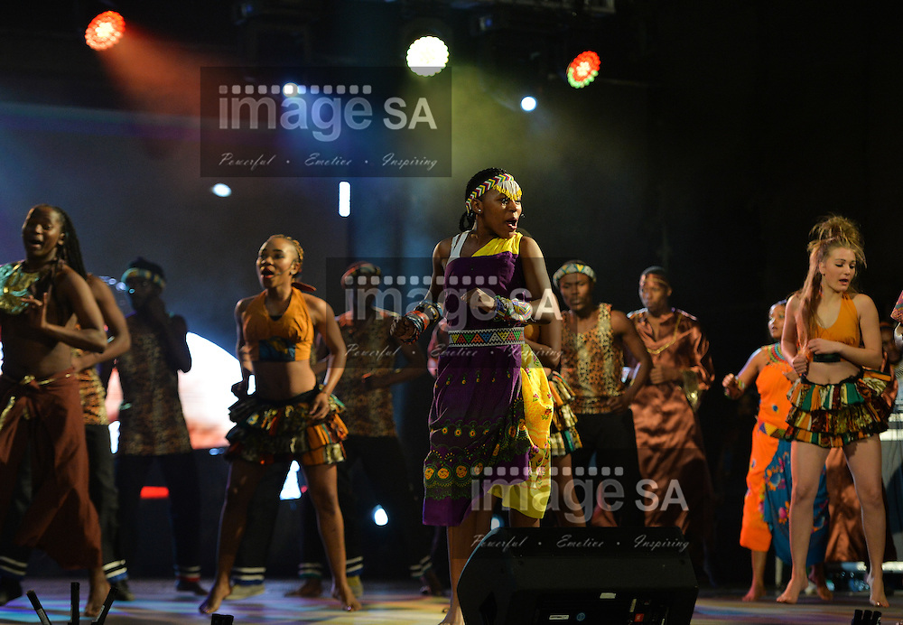 DURBAN, SOUTH AFRICA - JUNE 21: performers during the CAA 20th African Senior Championships Opening Ceremony at Growth Point Kings Park stadium on June 21, 2016 in Durban, South Africa. (Photo by Roger Sedres/Gallo Images)