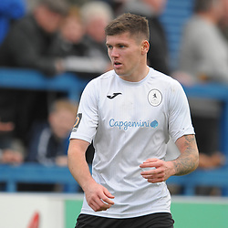 TELFORD COPYRIGHT MIKE SHERIDAN Matt Stenson of Telford during the National League North fixture between AFC Telford United and York City at the New Bucks Head on Saturday, October 12, 2019.<br /> <br /> Picture credit: Mike Sheridan<br /> <br /> MS201920-025