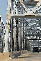 I 55 bridge over Des Plaines River near Joliet Illinois.  The bridge also carries Historic Route 66 traffic.