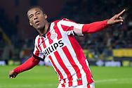 BREDA, NAC Breda - PSV, voetbal Eredivisie seizoen 2014-2015, 03-02-2015, Rat Verlegh Stadion, PSV speler Georginio Wijnaldum heeft de 0-2 gescoord.