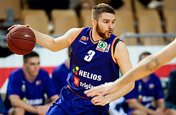 Miroslav Pasajlic of Helios Suns during basketball match between KK Hopsi Polzela and KK Helios Suns in semifinal of Spar Cup 2018/19, on February 16, 2019 in Arena Bonifika, Koper / Capodistria, Slovenia. Photo by Vid Ponikvar / Sportida