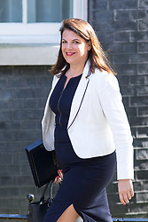 © Licensed to London News Pictures. 01/05/2018. London, UK. Minister of State for Immigration Caroline Nokes arriving in Downing Street to attend a Cabinet meeting this morning. Cabinet positions have recently shuffled around, following Amber Rudd's resignation as Home Secretary, following the Windrush scandal. Photo credit : Tom Nicholson/LNP