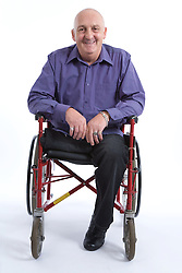 Portrait of a male amputee wheelchair user,