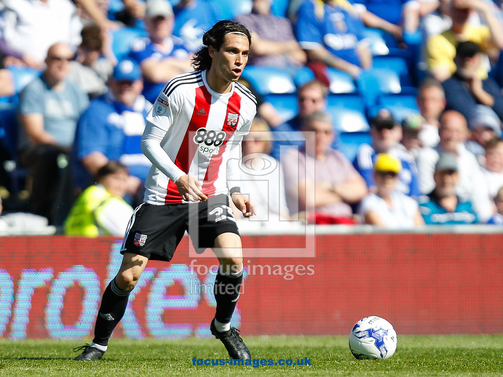 Jota of Brentford during the Sky Bet Championship match between Cardiff City and Brentford at the Cardiff City Stadium, Cardiff<br /> Picture by Mark D Fuller/Focus Images Ltd +44 7774 216216<br /> 08/04/2017