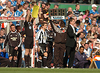 Photo: Leigh Quinnell.<br /> Birmingham City v Newcastle United. The Barclays Premiership. 29/04/2006. Michael Owen comes on for Newcastle.