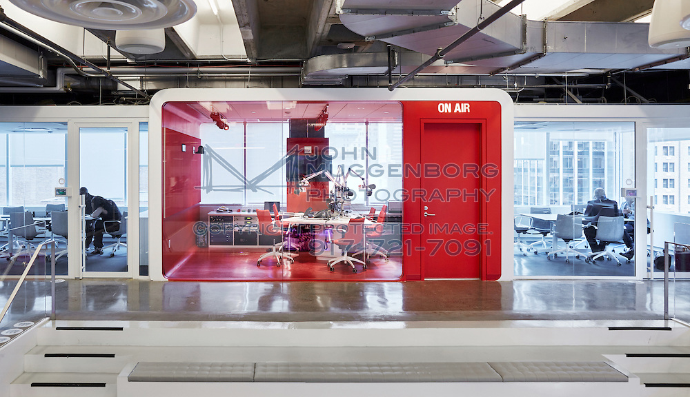 The iHeartMedia HQ in NYC designed by Architecture + Information photographed by John Muggenborg.