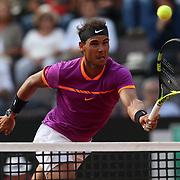 Roma 19/05/2017 Centrale del Foro Italico <br /> Internazionali BNL d'Italia<br /> Quarti di finale maschile <br /> Rafael Nadal vs Dominic Thiem <br /> <br /> Rafa Nadal conquista un punto a rete