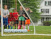 On Goal Soccer Camp at Leavitt Park sponsored by Evangelical Baptist Church in Lakeport.  Karen Bobotas for the Laconia Daily Sun